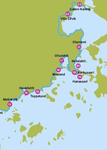 Espoon rantaraitti kartta